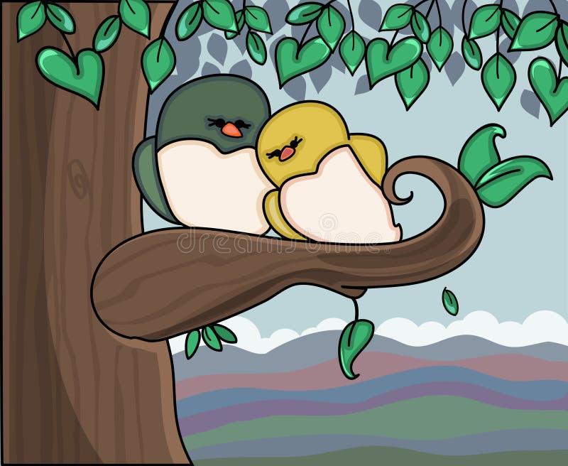 Pássaros do amor ilustração do vetor