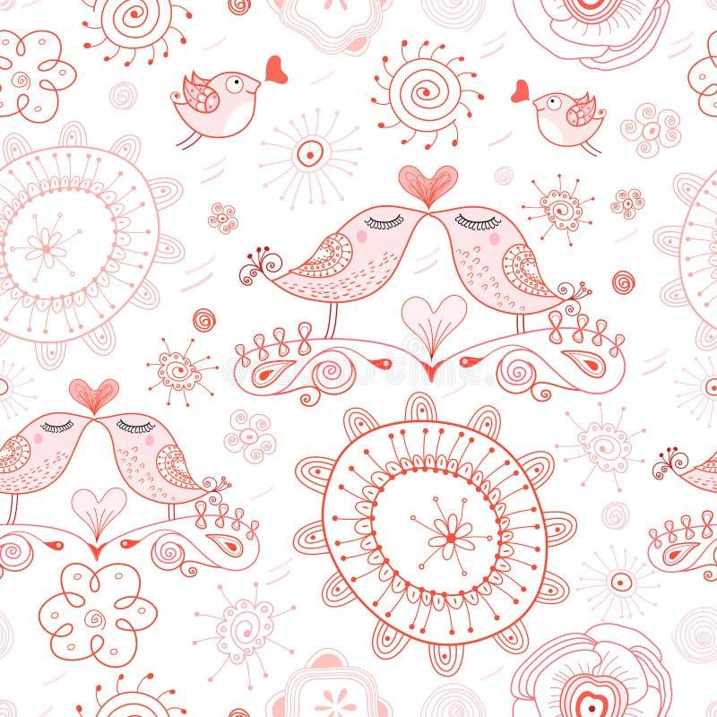 Pássaros do beijo da textura ilustração royalty free