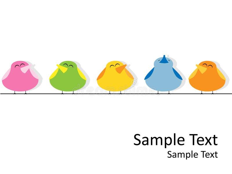 Pássaros do canto ilustração stock