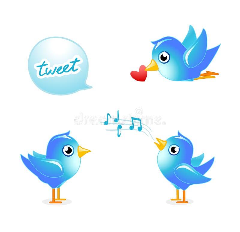 Pássaros do Tweet ilustração do vetor