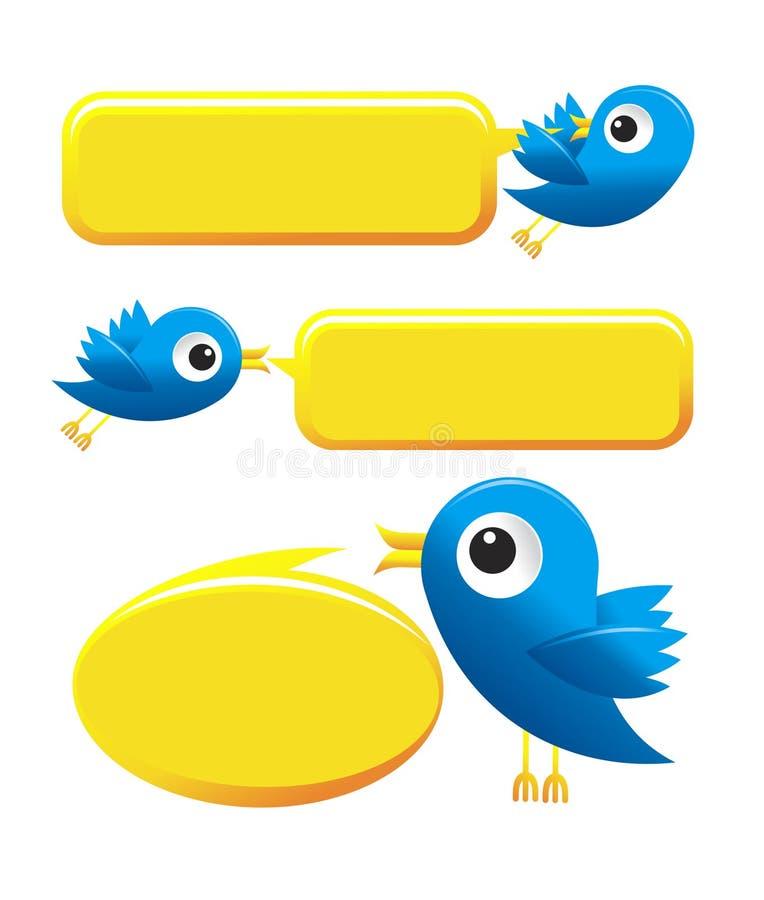 Pássaros do Twitter ilustração royalty free