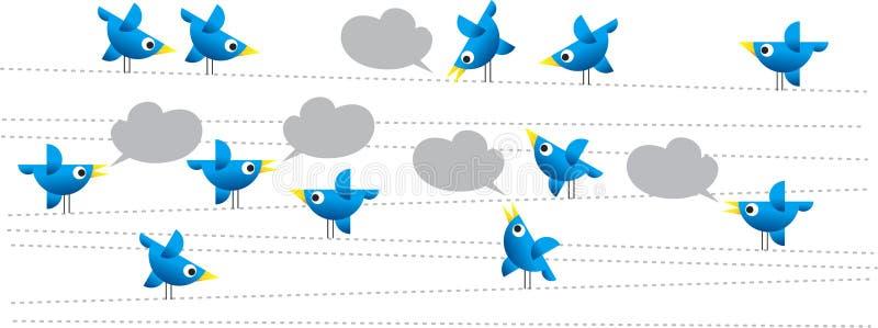 Pássaros do Twitter ilustração do vetor