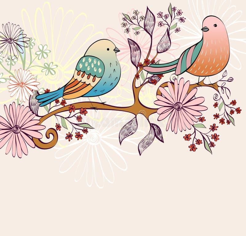 Pássaros do vetor ilustração royalty free