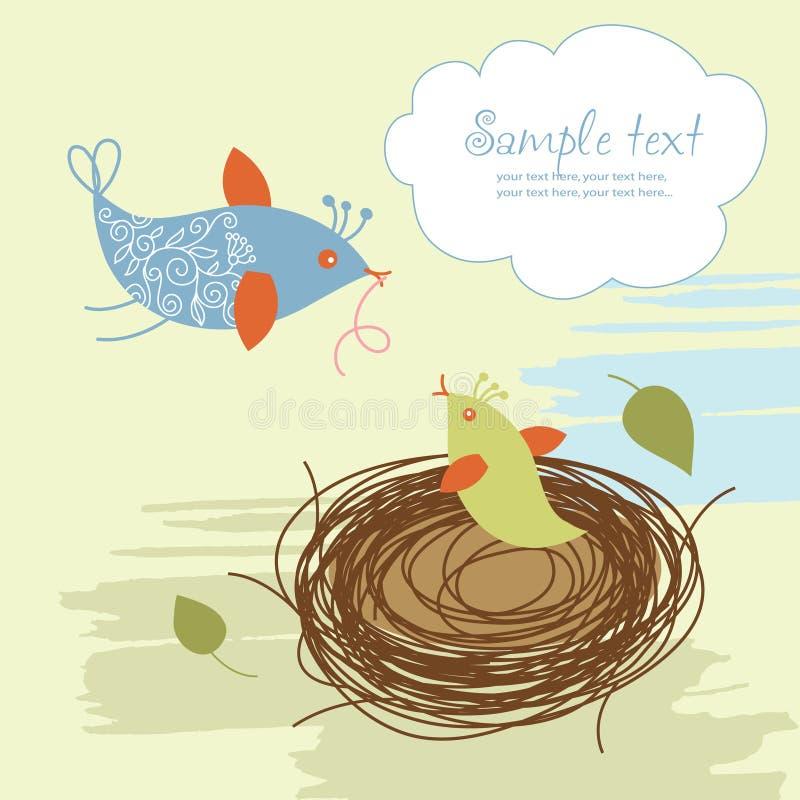 Pássaros dos desenhos animados ilustração stock