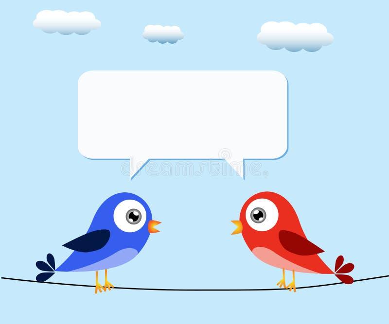 Pássaros e bolha do discurso ilustração do vetor