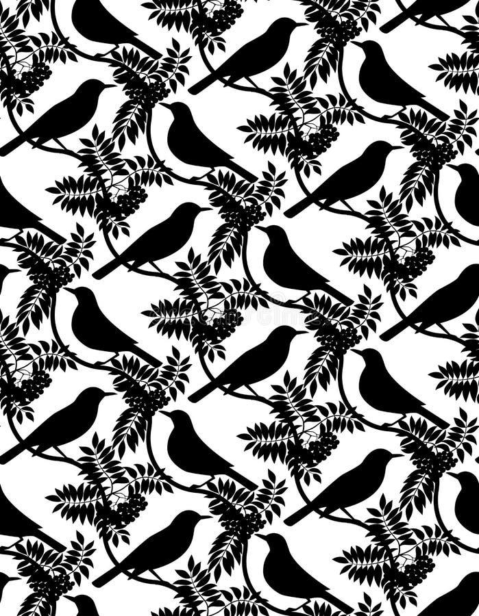 Pássaros. Fundo sem emenda. ilustração do vetor