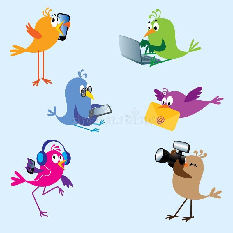 Pássaros - jogo 2 ilustração royalty free