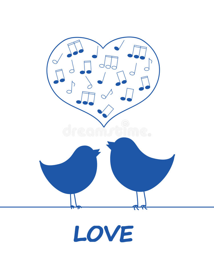 Pássaros no amor. foto de stock