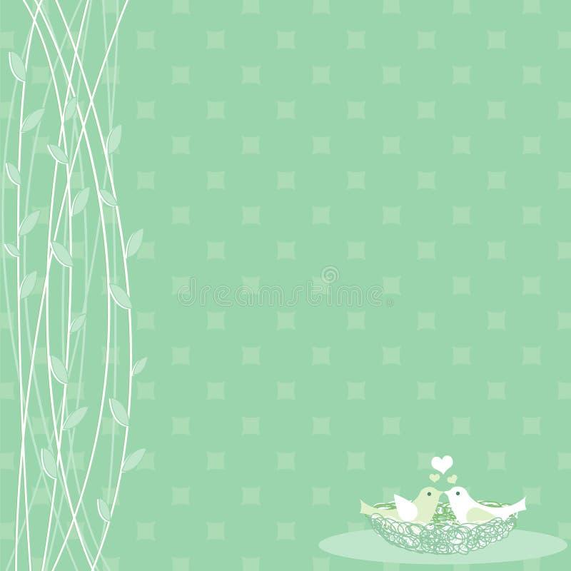 Pássaros no amor ilustração royalty free