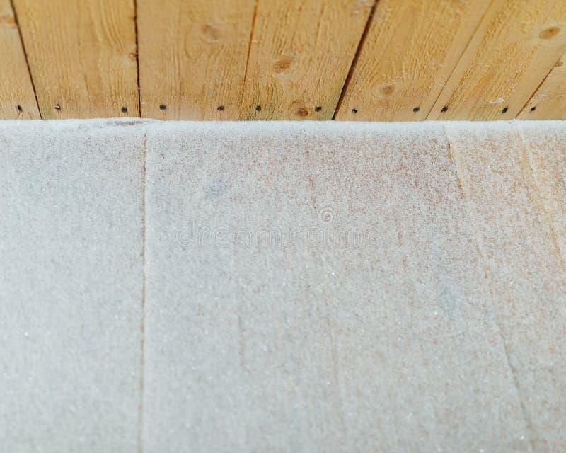 Pátina de la nieve en fondo de madera de los retrasos imagenes de archivo