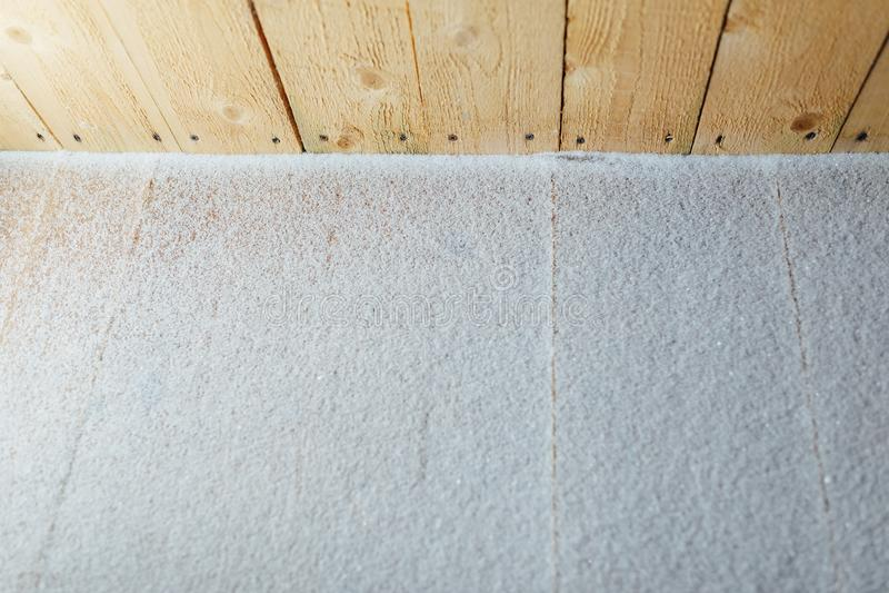Pátina de la nieve en fondo de madera de los retrasos fotos de archivo libres de regalías