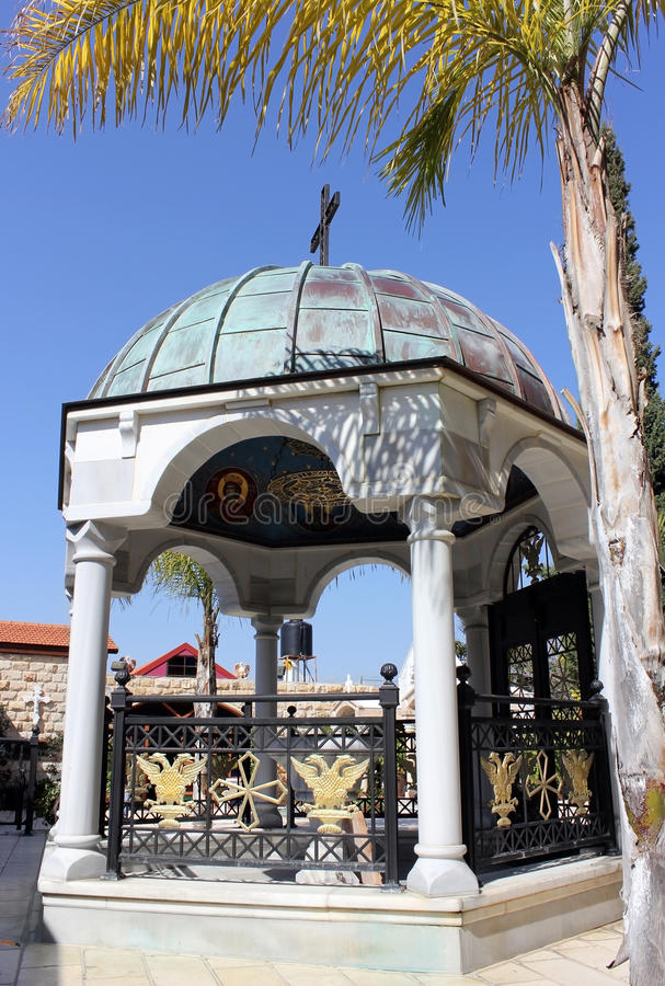 Download Pátio Na Igreja, Cana De Galilee, Israel Foto de Stock - Imagem de israel, sacred: 29838802