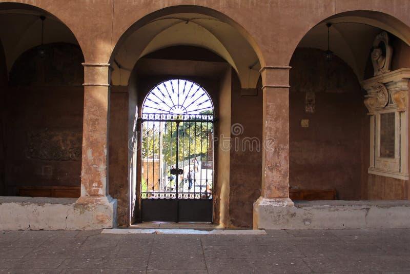 Pátio da academia real da Espanha em Roma imagem de stock royalty free