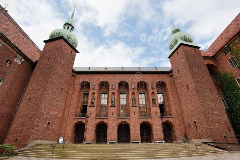 Pátio da cidade salão de Éstocolmo, Sweden imagem de stock