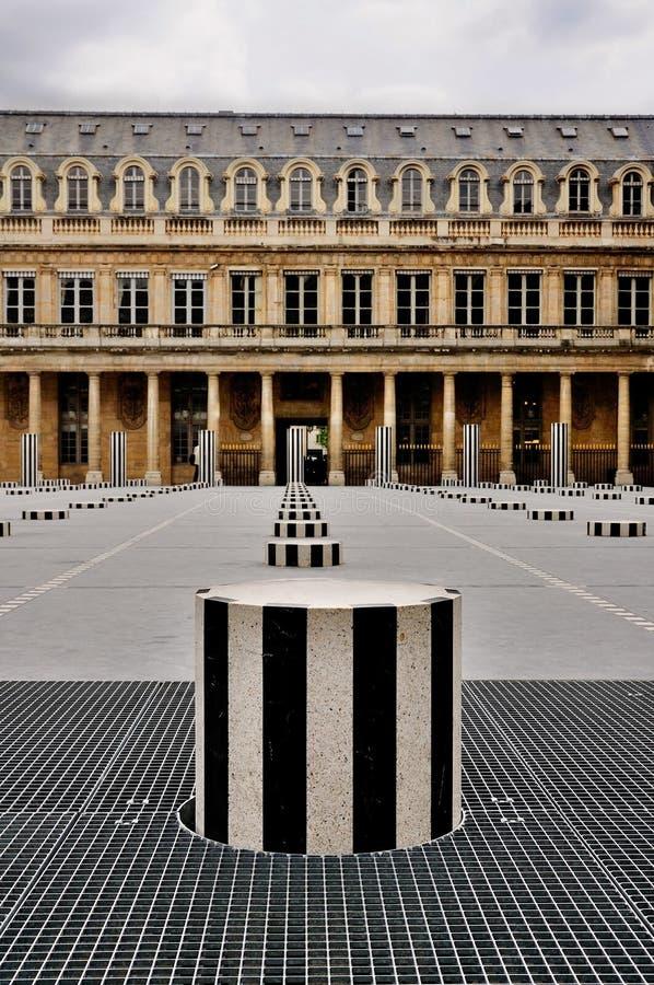 Pátio de Palais Royale, Paris fotografia de stock