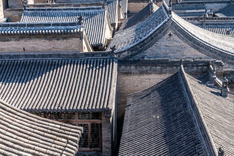 Pátio do jia de Wang, província de Shanxi, China foto de stock royalty free