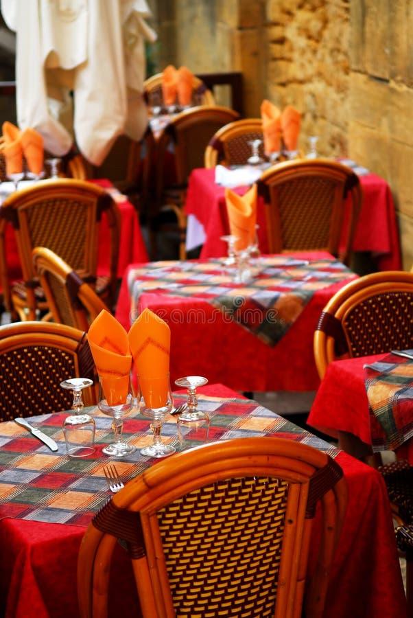 Pátio do restaurante imagens de stock royalty free