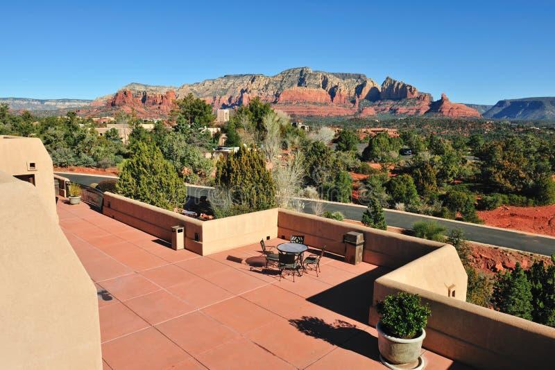 Pátio do telhado do deserto foto de stock royalty free