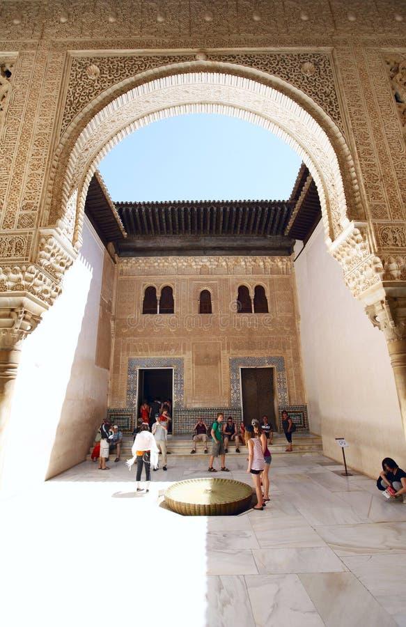 Pátio Dorado Alhambra fotografia de stock