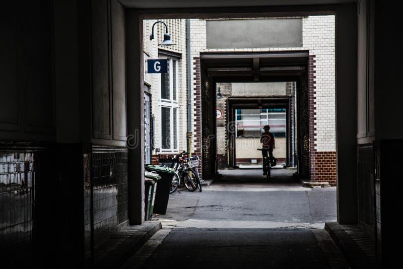 Pátio em Berlim fotografia de stock