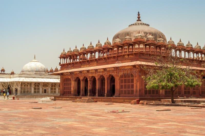Pátio Fatehpur Sikri Palace fotos de stock royalty free
