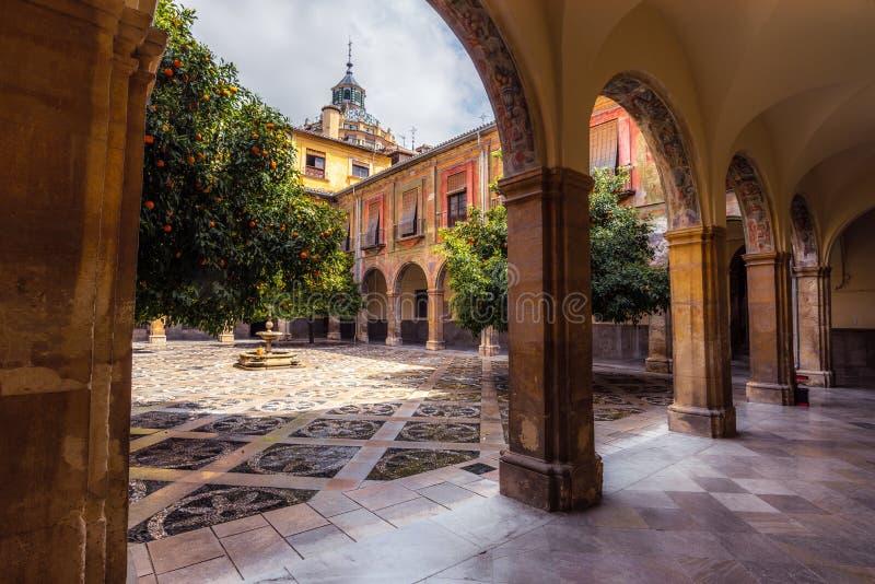 Pátio interno do hospital San Juan De Dios 10 imagens de stock