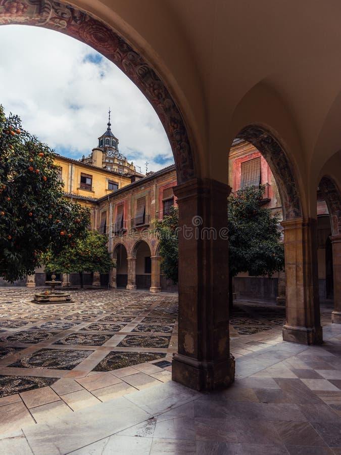 Pátio interno do hospital San Juan De Dios 13 imagem de stock royalty free