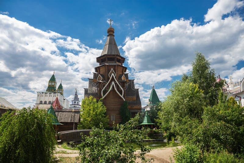 Pátio no Kremlin de Izmaylovsky em Moscou Russo tradicional imagem de stock royalty free
