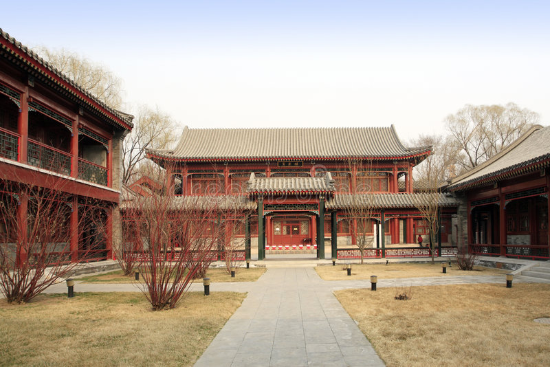 Pátio real de China. fotografia de stock royalty free