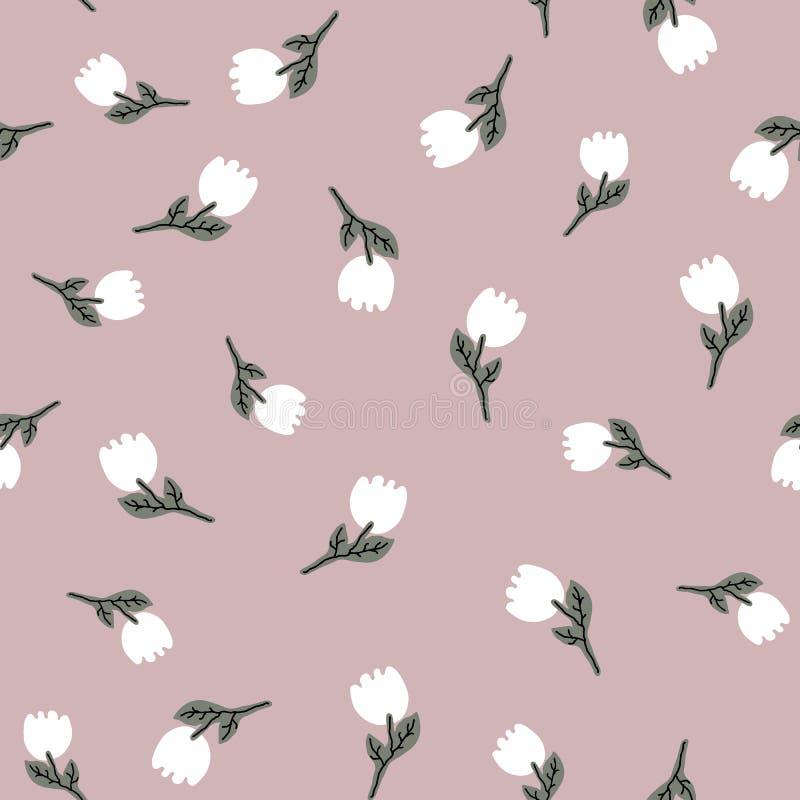 Pâlissez les tulipes sans couture de lumière de whith de modèle de vecteur de couleur en pastel Texture pour le papier d'emballag photo stock
