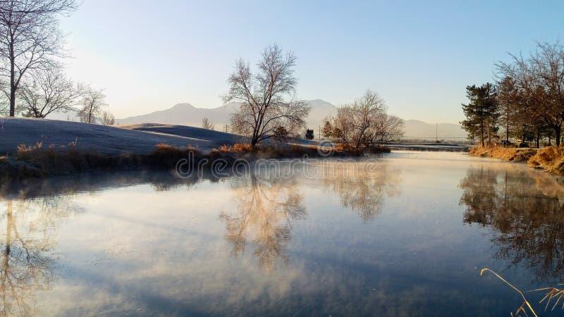 Pântano do rio de Provo em Autumn Morning imagem de stock