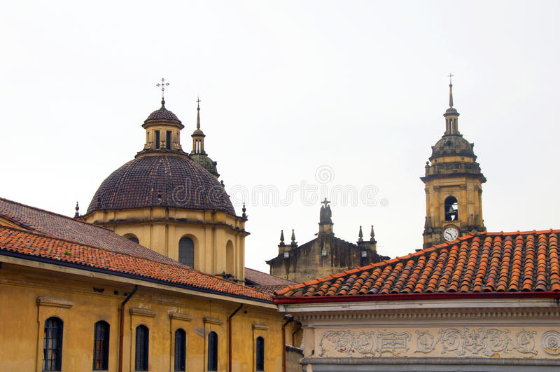 pântano histórico de Candelaria do La da igreja do distrito imagens de stock