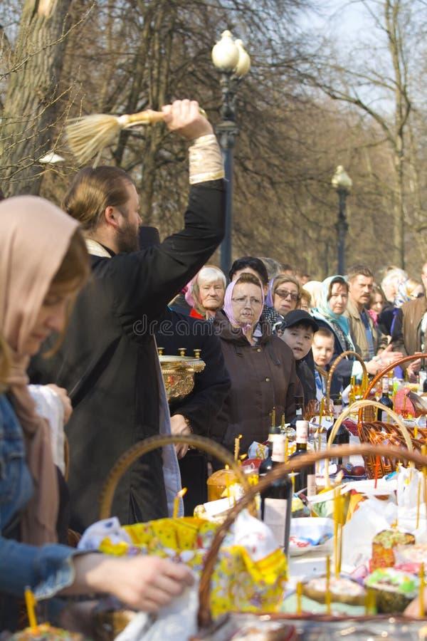 Pâques à Moscou photographie stock libre de droits