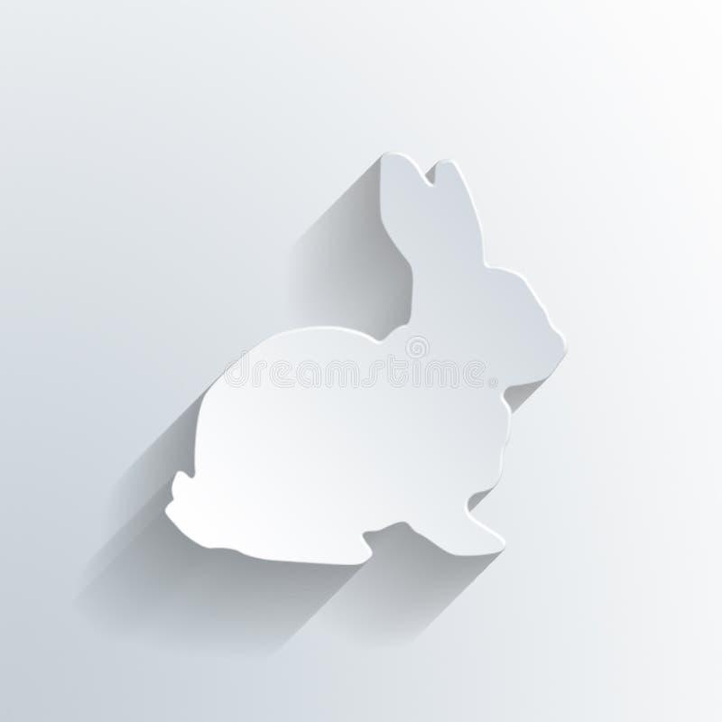 Pâques blanche Bunny Rabbit Card Background illustration libre de droits