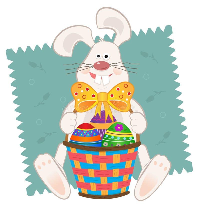 Pâques Bunny With Basket illustration stock