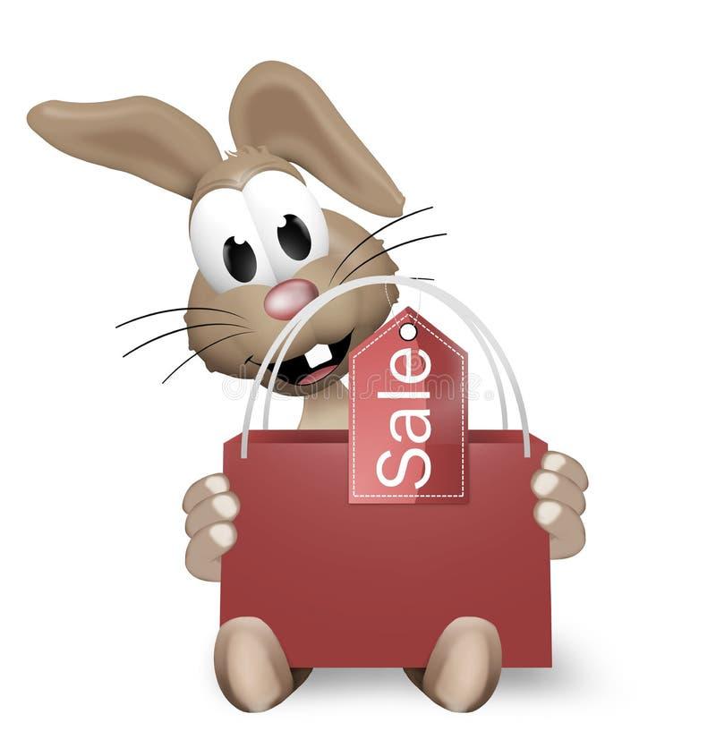 Pâques Bunny Shopping Bag illustration libre de droits
