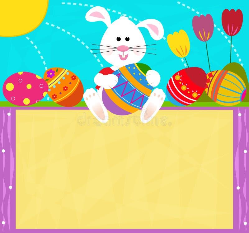 Pâques Bunny Sign illustration de vecteur