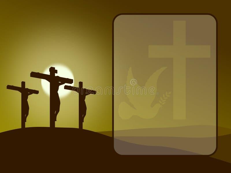 Pâques - calvaire illustration libre de droits