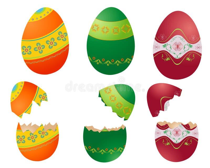 Pâques A Coloré Des Oeufs Image stock