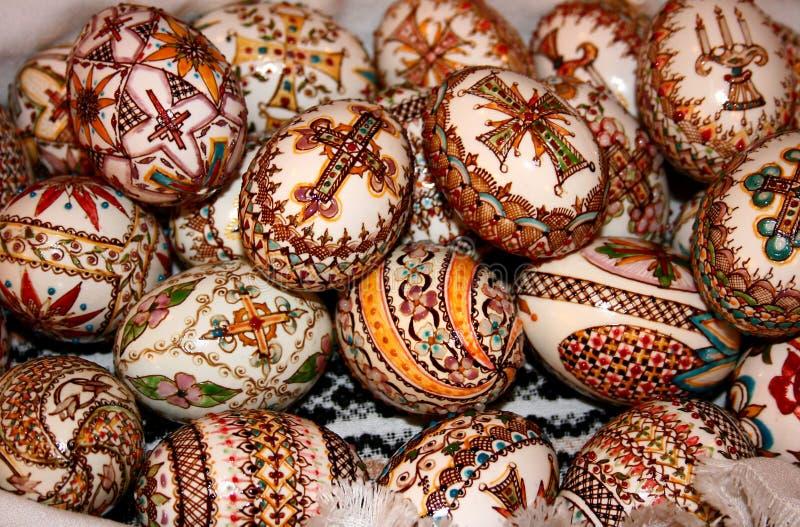 Pâques a décoré des oeufs photographie stock libre de droits