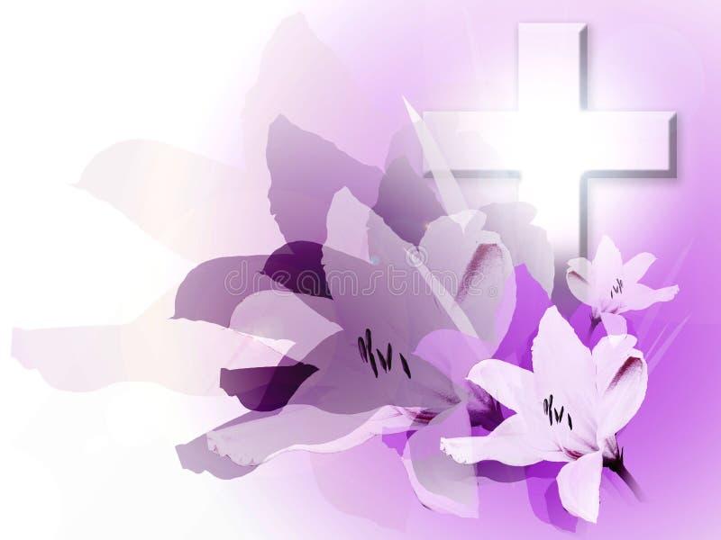 Pâques et lis illustration de vecteur