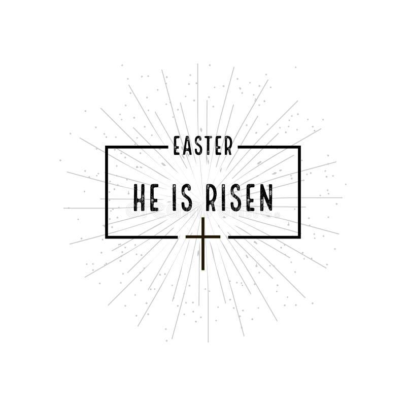 Pâques il est symbole levé avec l'éclat sur le fond blanc illustration stock
