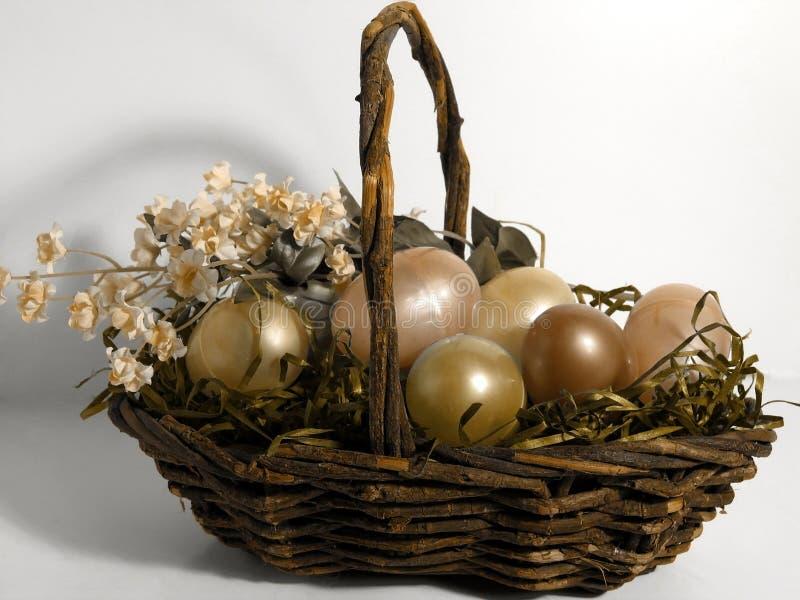 Pâques - oeufs d'or photo libre de droits
