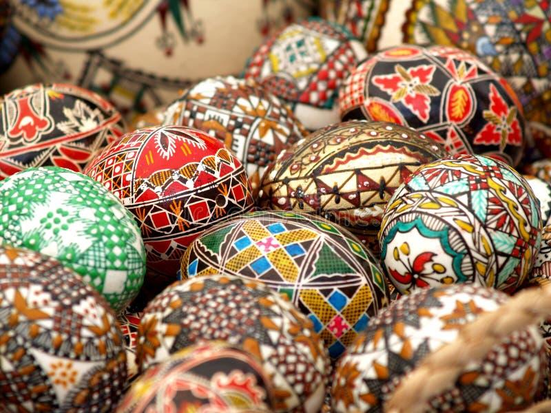 Pâques a peint des oeufs image stock