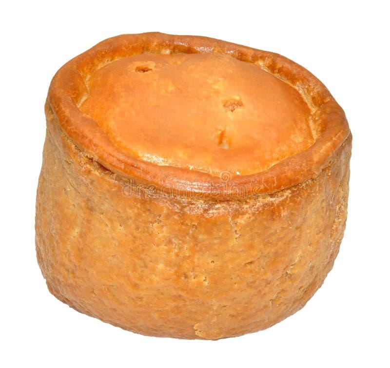 Pâté de porco de Melton Mowbray imagens de stock