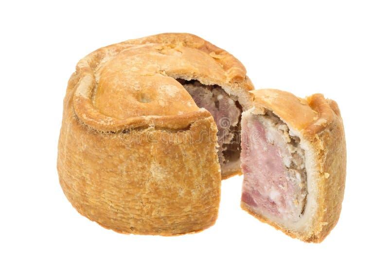 Pâté de porco tradicional de Melton Mowbray fotografia de stock