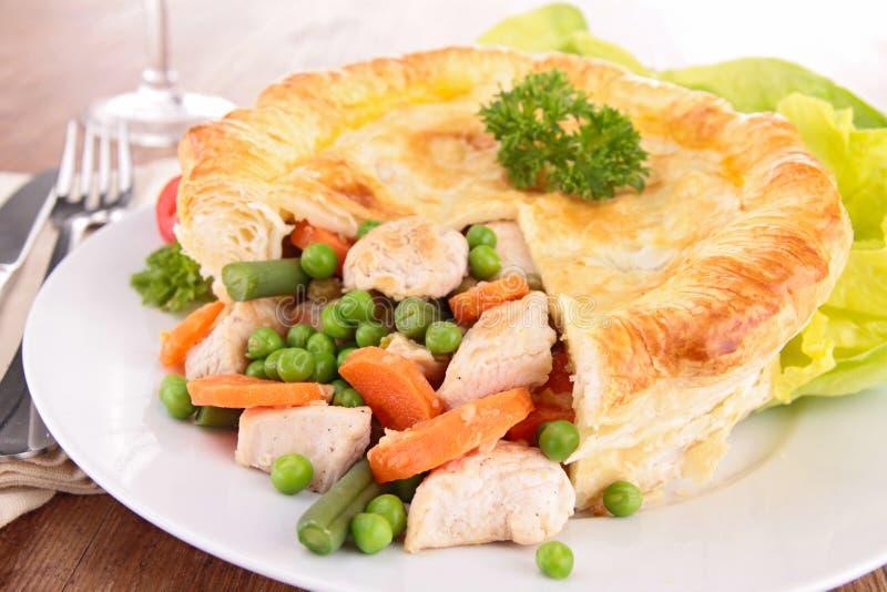 Pâté en croûte de poulet image stock