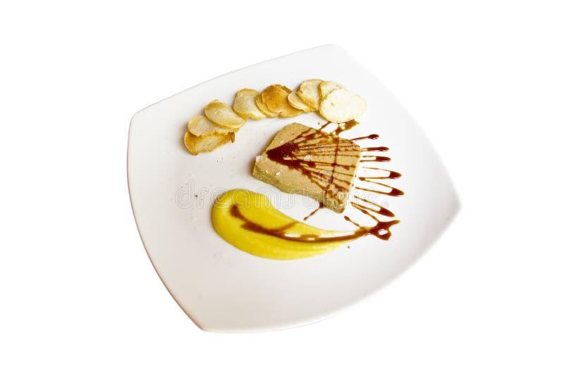Pâté Foie Gras avec la saucisse de pomme de terre images libres de droits