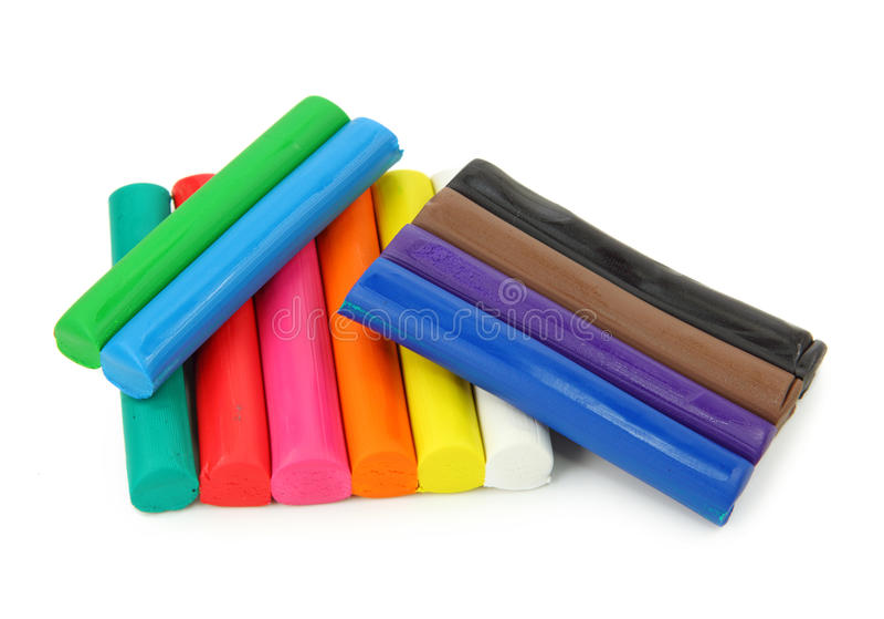 pâte à modeler colorée photographie stock libre de droits