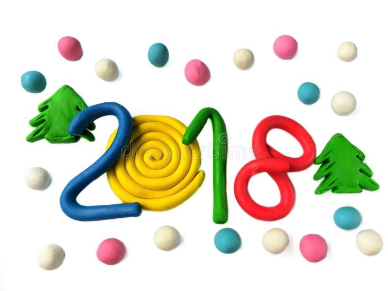 Pâte à modeler 2018 colorée photos stock